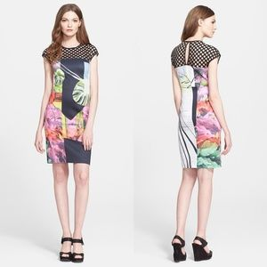 Clover Canyon Painted Garden Perforated Dress